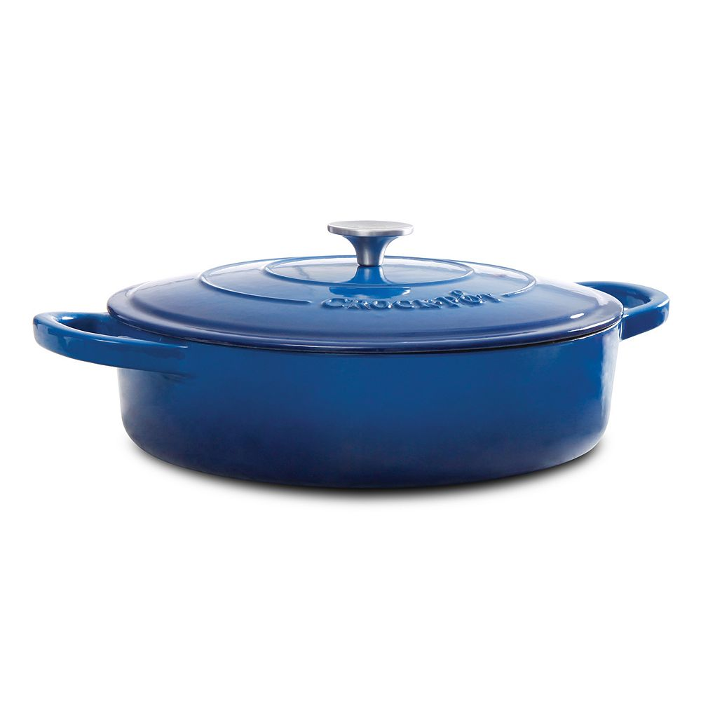 Crock-Pot 5-qt. Enamel Cast-Iron Braising Pan