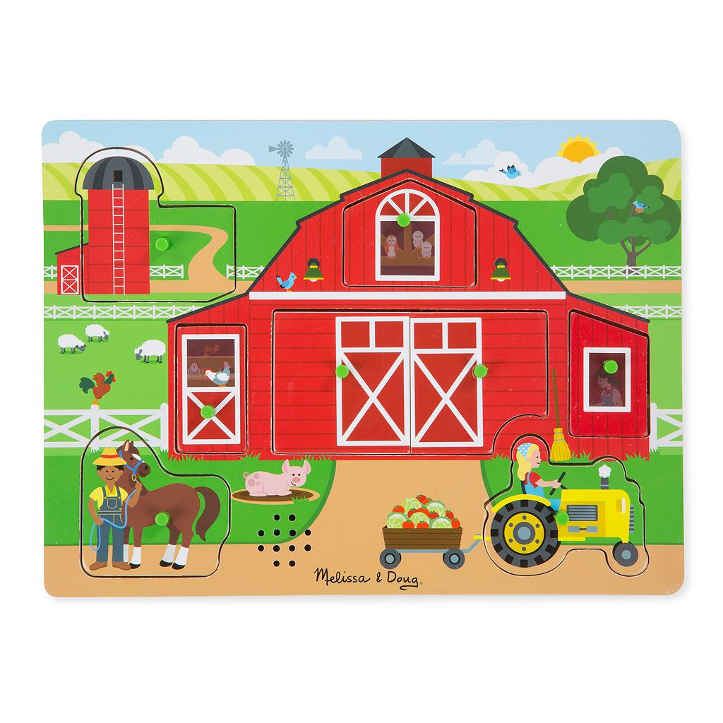 Melissa & Doug 8-pc. Around the Farm Sound Puzzle