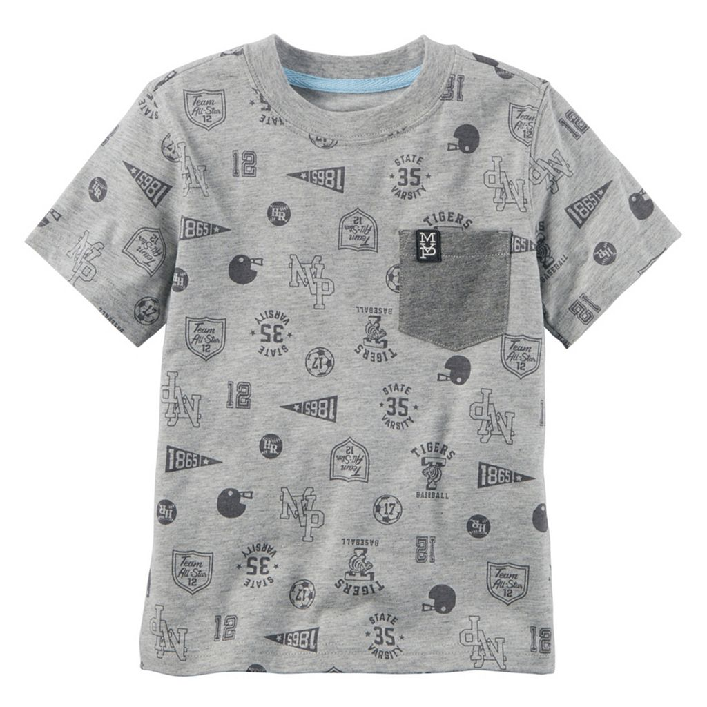 Toddler Boy Carter's Sporty Pattern Chest Pocket Tee