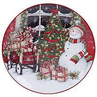 Certified International Snowman Sleigh Round Platter