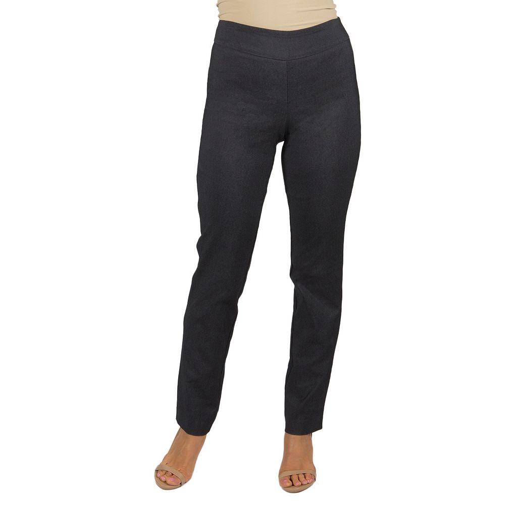 Women's Harve Benard Slim Straight-Leg Pull-On Pants