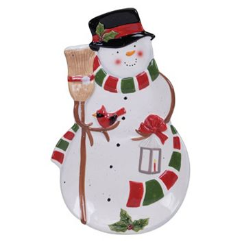 Certified International Snowman Sleigh 3D Platter