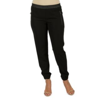 Women's Harve Benard Embellished Cuffed Pull-On Pants