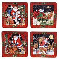 Certified International The Night Before Christmas 4-pc. Dinner Plate Set