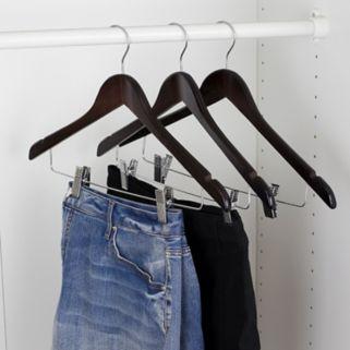 Sunbeam 3-pack Wood Hanger & Clips