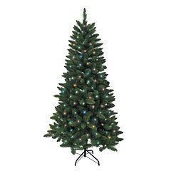 Kurt Adler 4.5-ft. Pre-Lit Green Pine Christmas Tree