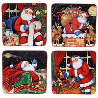 Certified International The Night Before Christmas 4-pc. Dessert Plate Set