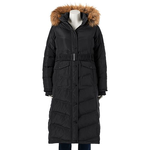 ae47ac749a6 Juniors' Plus Size Madden Girl Faux-Fur Hooded Maxi Puffer Jacket