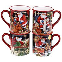 Certified International The Night Before Christmas 4-pc. Mug Set