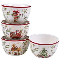 Certified International The Night Before Christmas Ice Cream Bowl Set