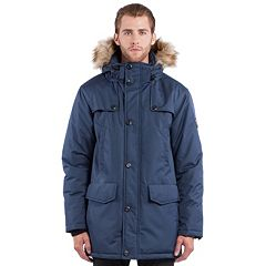 Men's Noize Mid-Length Faux-Fur Hooded Parka by