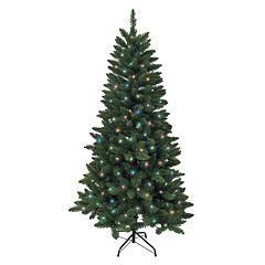 Kurt Adler 6-ft. Pre-Lit Green Pine Christmas Tree
