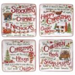 Certified International The Night Before Christmas Canape Plate Set