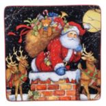 Certified International The Night Before Christmas Square Platter
