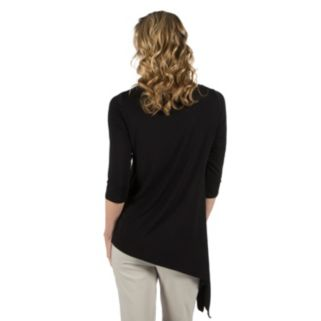 Women's Larry Levine Asymmetrical-Hem Top