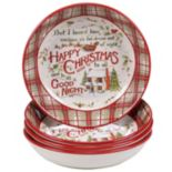 Certified International The Night Before Christmas 4-pc. Soup Bowl Set