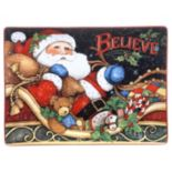 "Certified International The Night Before Christmas ""Believe"" Rectangular Platter"