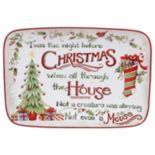 Certified International The Night Before Christmas Rectangular Platter