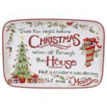 Certified International The Night Before Christmas Rectangular Platter