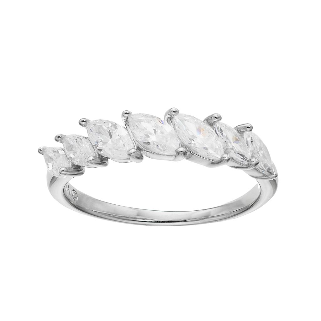 EmotionsSterling Silver Cubic Zirconia Marquise Ring