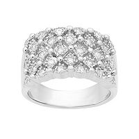 Emotions Sterling Silver Cubic Zirconia Geometric Ring
