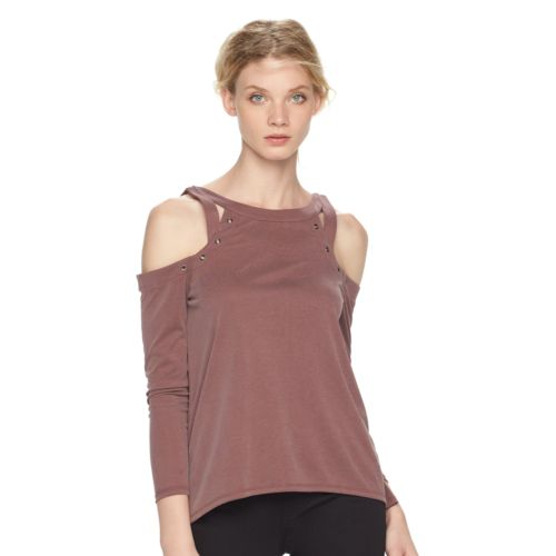 Women's Rock & Republic® Grommet Cold-Shoulder Top