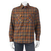Men's Woolrich Hikers Trail Modern-Fit Flannel Button-Down Shirt