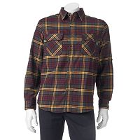 Men's Woolrich Hikers Trail Modern-Fit Flannel Button-Down Shirt