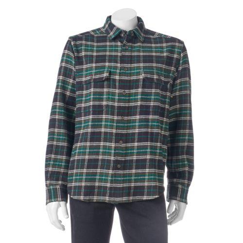 Men's Woolrich Tall Pine Classic-Fit Heavyweight Flannel Button-Down Shirt