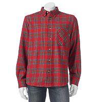 Men's Woolrich Classic-Fit Plaid Flannel Button-Down Shirt