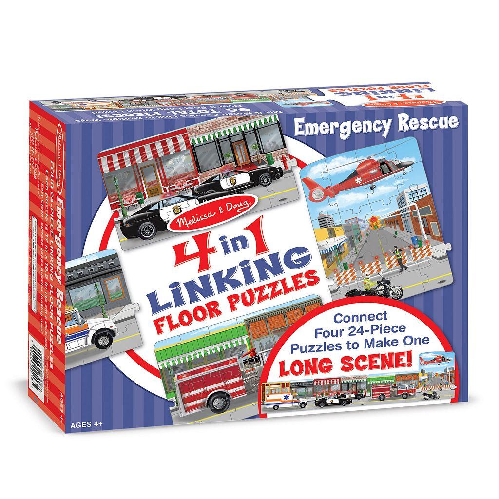 Melissa & Doug 96-pc. Emergency Rescue Linking Floor Puzzle