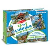 Melissa & Doug 96 pc Dinosaurs Linking Floor Puzzle
