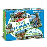 Melissa & Doug 96 pc Dinosaurs Linking Floor Puzzle