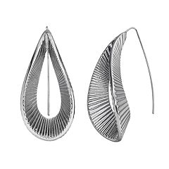 Simply Vera Vera Wang Ribbed Loop Threader Earrings