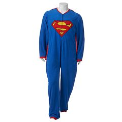 Big & Tall DC Comics Superman Microfleece Union Suit with Cape
