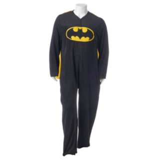 Big & Tall DC Comics Batman Microfleece Union Suit with Cape