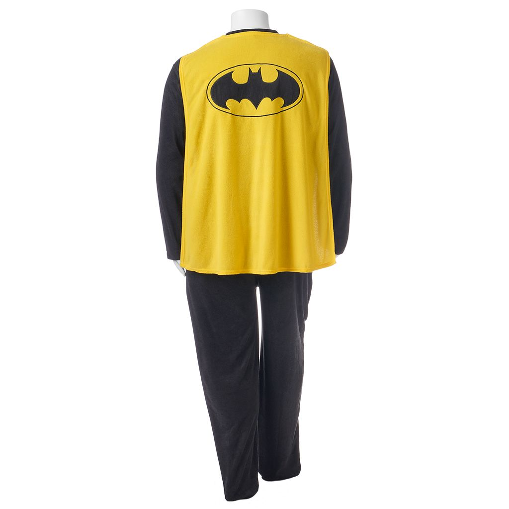 Big & Tall DC Comics Batman Microfleece Union Suit with Cape