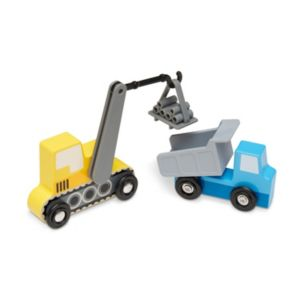 Melissa & Doug Wooden Construction Site Vehicles Set
