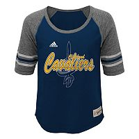 Girls 7-16 adidas Cleveland Cavaliers High-Low Raglan Tee