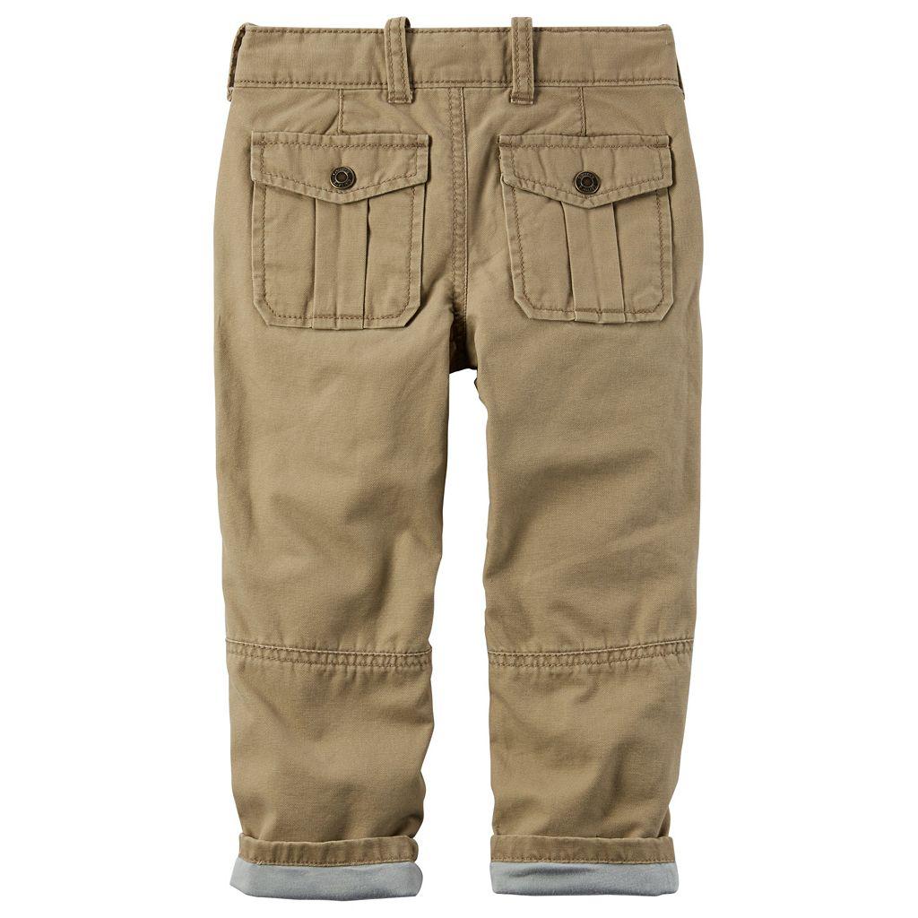 Toddler Boy Carter's Lined Khaki Pants