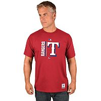 Men's Majestic Texas Rangers AC Team Icon Tee