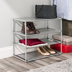 Home Basics 12-pair Non-Woven Shoe Shelf