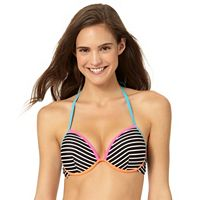 In Mocean Clueless Push Up Stripe Bikini Top