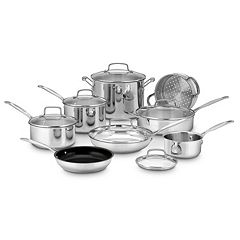 Cuisinart Chef's Classic Stainless Steel 14 pc Cookware Set