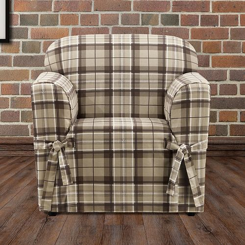 Sure Fit Highland Plaid Chair Slipcover
