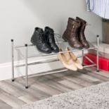 Sunbeam 2-Tier Expandable Shoe Rack