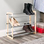 Sunbeam 3-Tier Expandable Shoe Rack