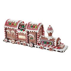 Kurt Adler 19.5-in. Light-Up Gingerbread Train Christmas Table Decor