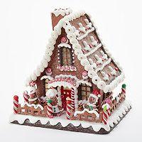 Kurt Adler 10-in. Light-Up Gingerbread House Christmas Table Decor