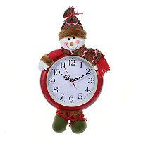Kurt Adler 17.5-in. Snowman Wall Clock
